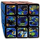 海の魚 スピードキューブ 3x3x3 立体パズル ポップ防止 回転スムーズ 競技用 55x55x55mm 知育玩具 脳トレ プレゼント カスタムデザイン