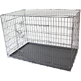 "48"" XXL Double X-Large Pet Dog Crate Metal Folding Cage Portable Kennel House Training Puppy Kitten Cat Rabbit"