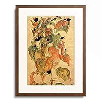 エゴン・シーレ Egon Schiele 「Sonnenblumen, 1911.」 額装アート作品