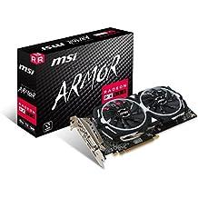 MSI AMD Radeon RX 580 Armor 8G OC Graphics Card