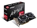 MSI AMD RX 580 armour 8G OC 8 GB GDDR5 256-Bit Memory DVI/DP/HDMI PCI Express 3 Graphics Card - Black