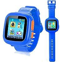 プレイウォッチ 子供 腕時計 キッズ 腕時計 スマートウォッチ 多機能 腕時計 タッチスクリー 誕生日/卒業祝い/クリスマスのプレセント (ブルー)