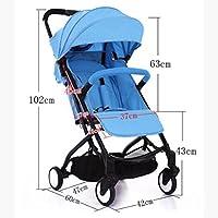 赤ちゃんのベビーカー超軽量ポータブルシットライズ折り畳まれた傘ベビーチャイルドカート (色 : A)