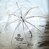 パタゴニア メンズ GORDON MILLER 大きい 透明ジャンプ傘 ブラック 60cm×8本骨 耐風グラスファイバー骨 ビニール傘