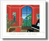 トーマス・マックナイト *サンレモ  【ポスター+フレーム】約 54 x 64 cm ホワイト