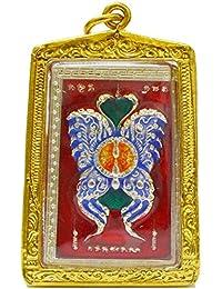 タイAmulets MagicバタフライKruba Krissana Back PhraプロムThai Buddha Amulets