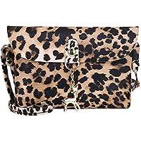 Kwok Womens Leather Crossbody Bag Leopard Print Shoulder Bags Messenger Bag Coin Bag Shoulder Bag Leisure Bag Wallet Mobile Phone Bag