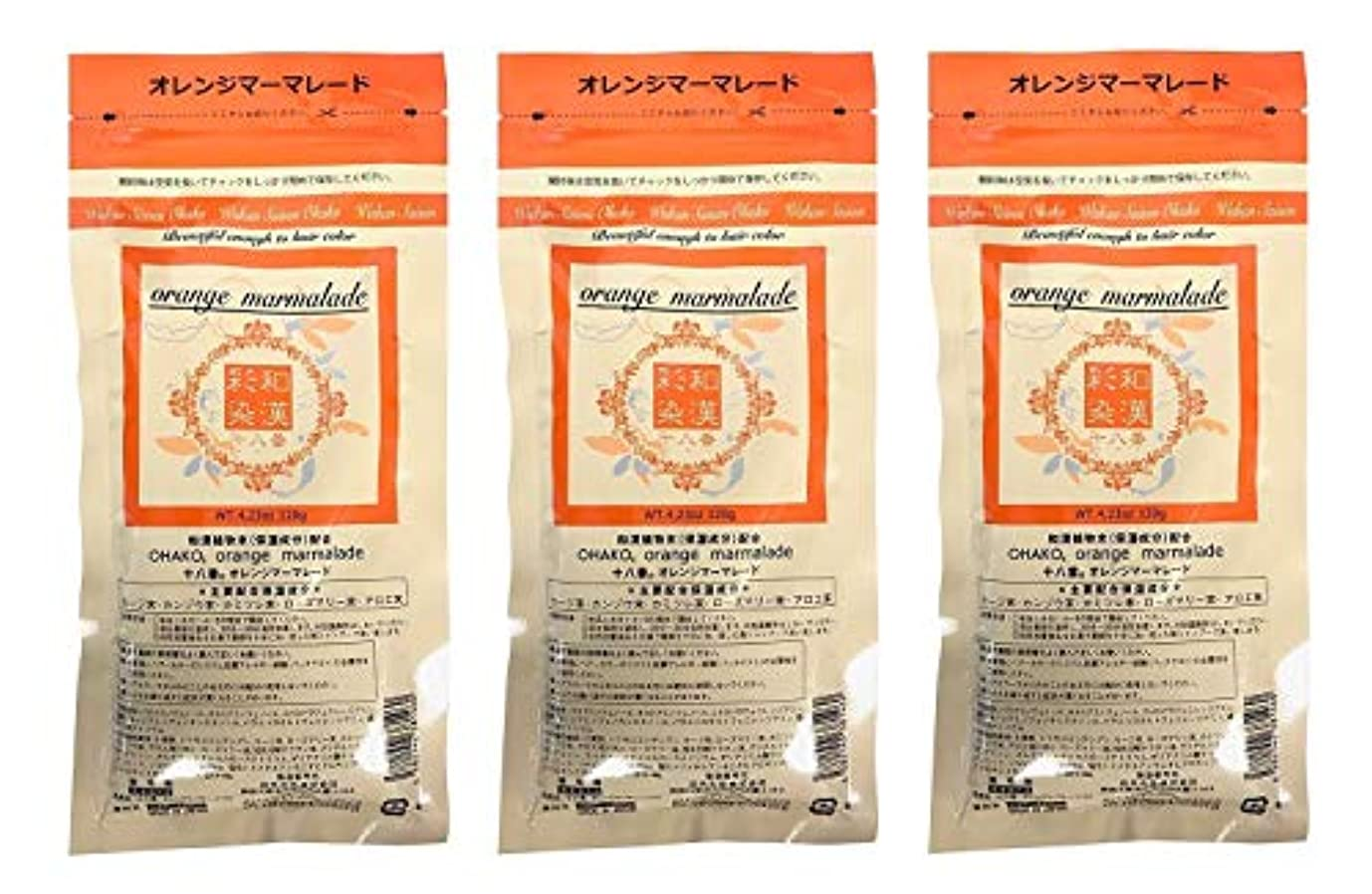 遊具引退する汚す【3個セット】グランデックス 和漢彩染 十八番 120g オレンジママーレード