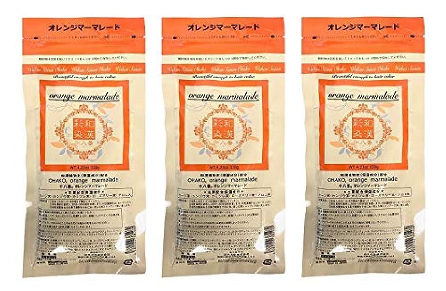批判的に子孫キャラバン【3個セット】グランデックス 和漢彩染 十八番 120g オレンジママーレード