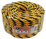 三友産業 標識ロープ 12mmX50m 黄/黒 HR-350