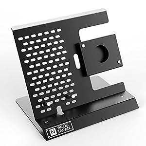 NBROS [ SmartStationシリーズ ] iPhone / Apple Watch (42/38mmモデル対応) スタンド [ ブラック ] NB-AW001WPB