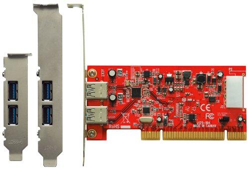 玄人志向 インターフェースボード USB3.0 PCI接続 LowProfile対応 USB3.0R-P2-LPPCI