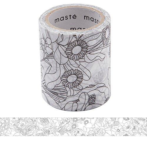 マークス ぬり絵ができるマスキングテープ 「マステ」 フラワー れも MST-ZC01-B