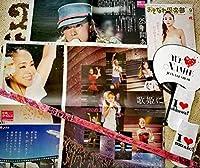 安室奈美恵 ドレスのアクリルスタンドと沖縄限定セット 薄ピンク銀テープ うちわ ドリンクカバー 雑誌 新聞