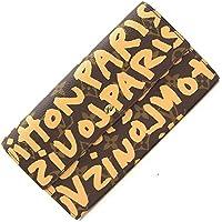 LOUIS VUITTON(ルイヴィトン) 二つ折り長財布 モノグラム グラフィティ ポシェット ポルト クレディ M92190 ピーチ 中古 ロングウォレット 落書き 手書き風 レア LOUIS VUITTON [並行輸入品]
