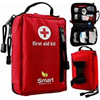 First Aid Kit forハイキング、バックパッキング、キャンプ、スポーツイベント、旅行、車&サイクリング。With防水ラミネートバッグSuppliesの保護、。