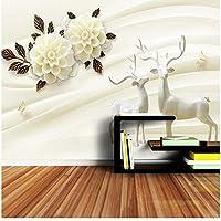 Xbwy 現代の牛乳絵画花3 Dのリビングルームの寝室の背景-150X120Cm