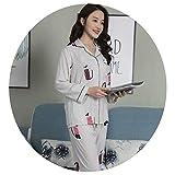 新しいパジャマの春と夏の女性の綿のシルクのパジャマ長袖のズボンのスーツの襟の女性のホームサービスツーピース