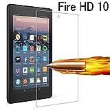 Fire HD 10 ガラスフィルム,専用設計 気泡ゼロ [EKKSI] ドイツ先端技術 極薄 Fire HD 10 フィルム 高精細 高透過率 超低反射