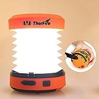 LED ランタン ThorFire  ポップアップランタン・キャンプランタン・テントランプ 超高輝度・125ルーメン 手動充電・USB充電  ミニ懐中電灯・トーチライト マホなど充電可能 アウトドア用・ 緊急事態用 ・非常用 CL01
