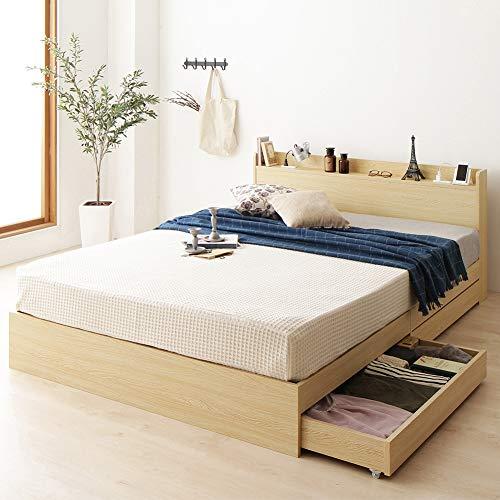 ベストバリュースタイル ベッド キャスター付 収納付き 棚付き コンセント付 B07QTX975X 1枚目