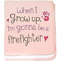 CafePress – Kids Future消防士赤ちゃんBlanket – スーパーソフトベビー毛布、新生児おくるみ 標準 ピンク 593069548-0-173-0