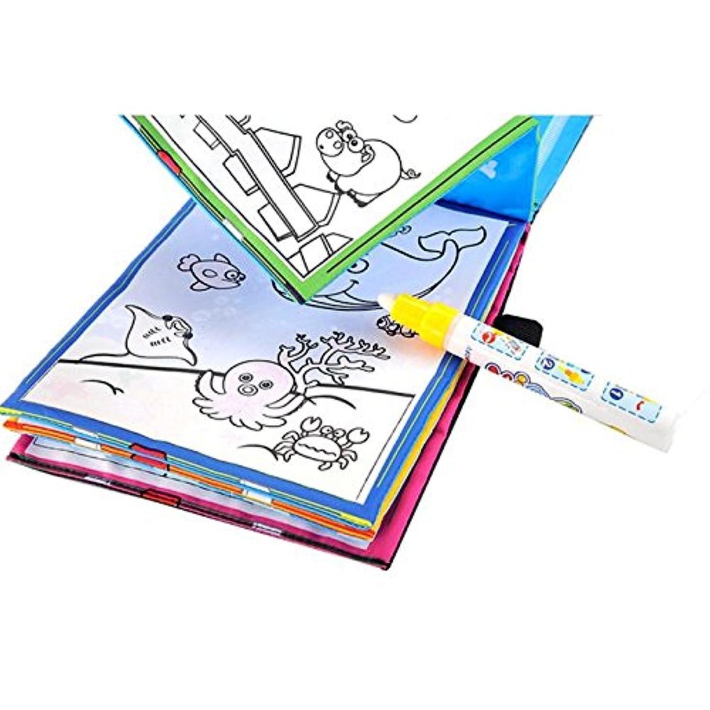Wffo 水描き 絵画 マジックウォーター 絵本 ぬり絵 落書きマジック ペン 動物 絵画 Wffo - toy