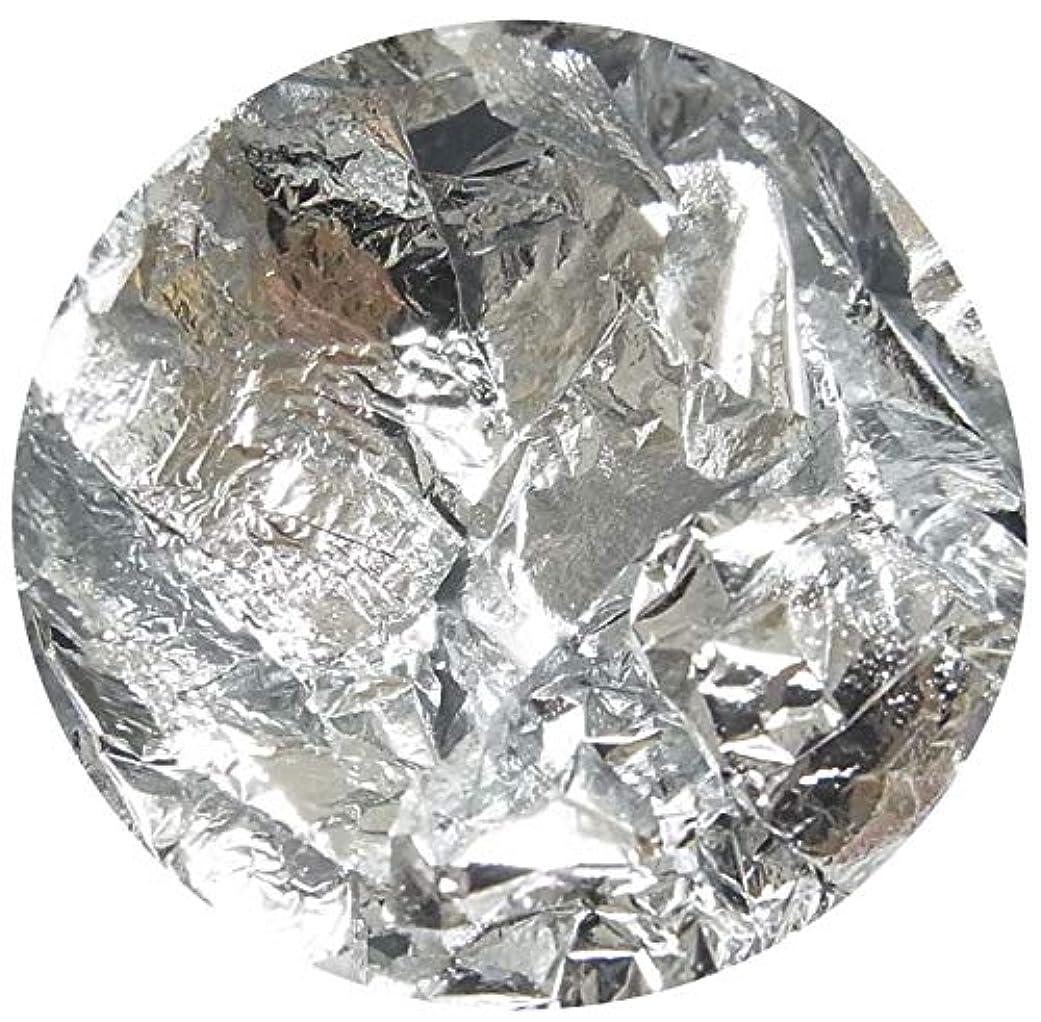 うつ細胞量で【jewel】ネイルホイル 金箔風 ケース付き 金箔 銀箔 (銀箔)