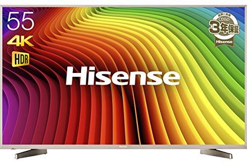 ハイセンス 55V型 4K対応液晶テレビ HDR対応 -メーカー3年保証/...