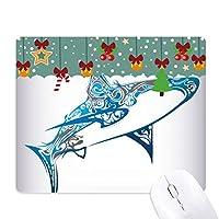 ブルーオーシャンシャーク生物学の魚 ゲーム用スライドゴムのマウスパッドクリスマス