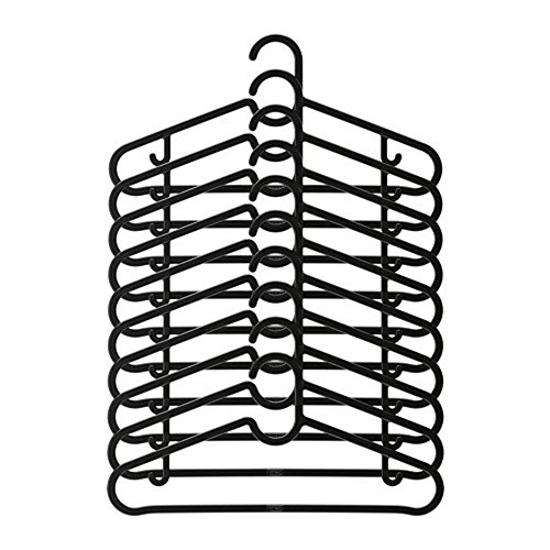 IKEA/イケア SPRUTTIG:ハンガー10個セット ブラック (403...