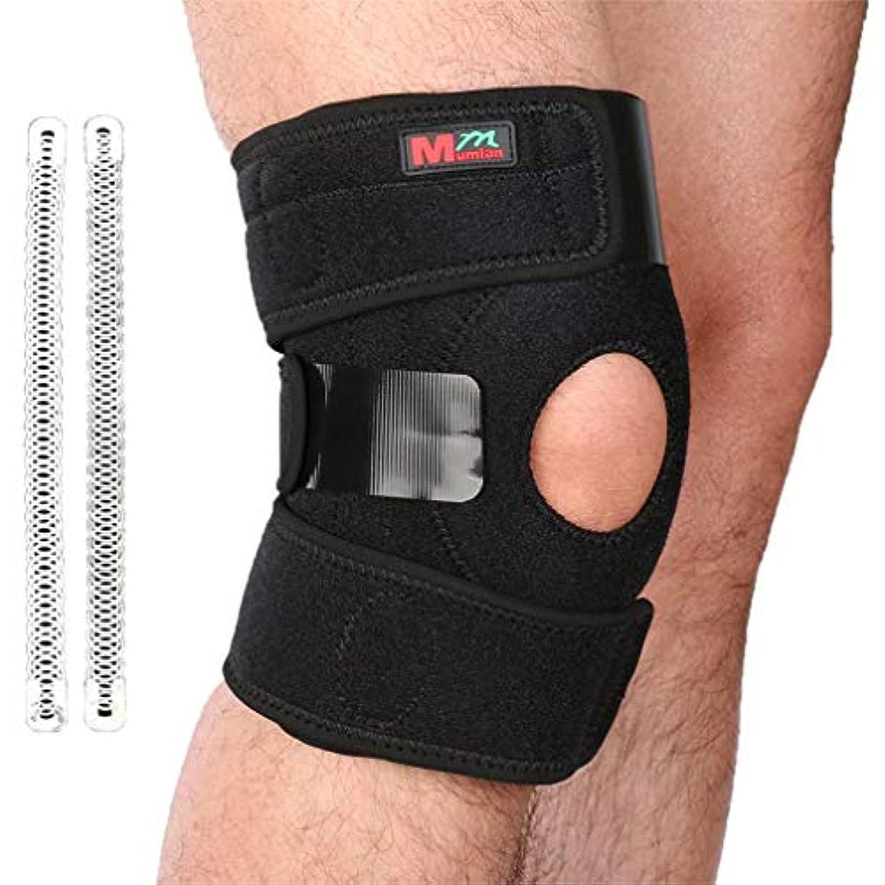 嫌な仕えるレスリング1PC膝プロテクター膝パッドシリコン弾性包帯デザイン膝サポート-Rustle666
