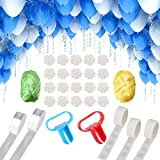 NW 1776 Balloon Arched Tape Garland Decoration Set, 33ft Tape, 300 Glue Points, Knotter 2, Ribbon 2, Flower Clip 10, Used for Party Wedding Birthday Christmas DIY