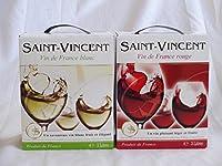 2セット チリ産大容量白ワイン飲み比べセット(サン ヴァンサン ルージュ フランス 赤ワイン ミディアムボディ 3000ml サン ヴァンサン ブラン フランス 白ワイン 辛口 3000ml)