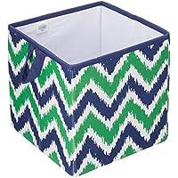 Bacati MixNMatch Storage Box, Navy/Green, Small by Bacati