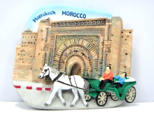 Marrakechモロッコお土産冷蔵庫マグネット3d磁気手S...