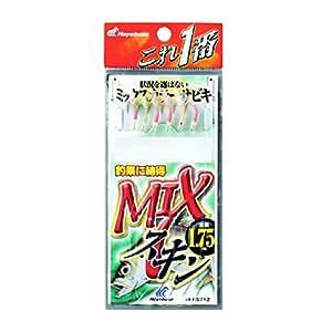 ハヤブサ(Hayabusa) これ一番 MIXスキンサビキ 6本針 HS712 5-1号 [5枚セット]