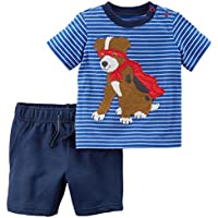 Carter's Boys Blue Two Piece Dog Bodysuit Set (3m)