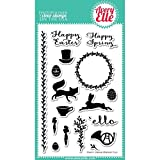 Avery Elle Stamp Set, 4-Inch by 6-Inch, Happy Spring, Clear