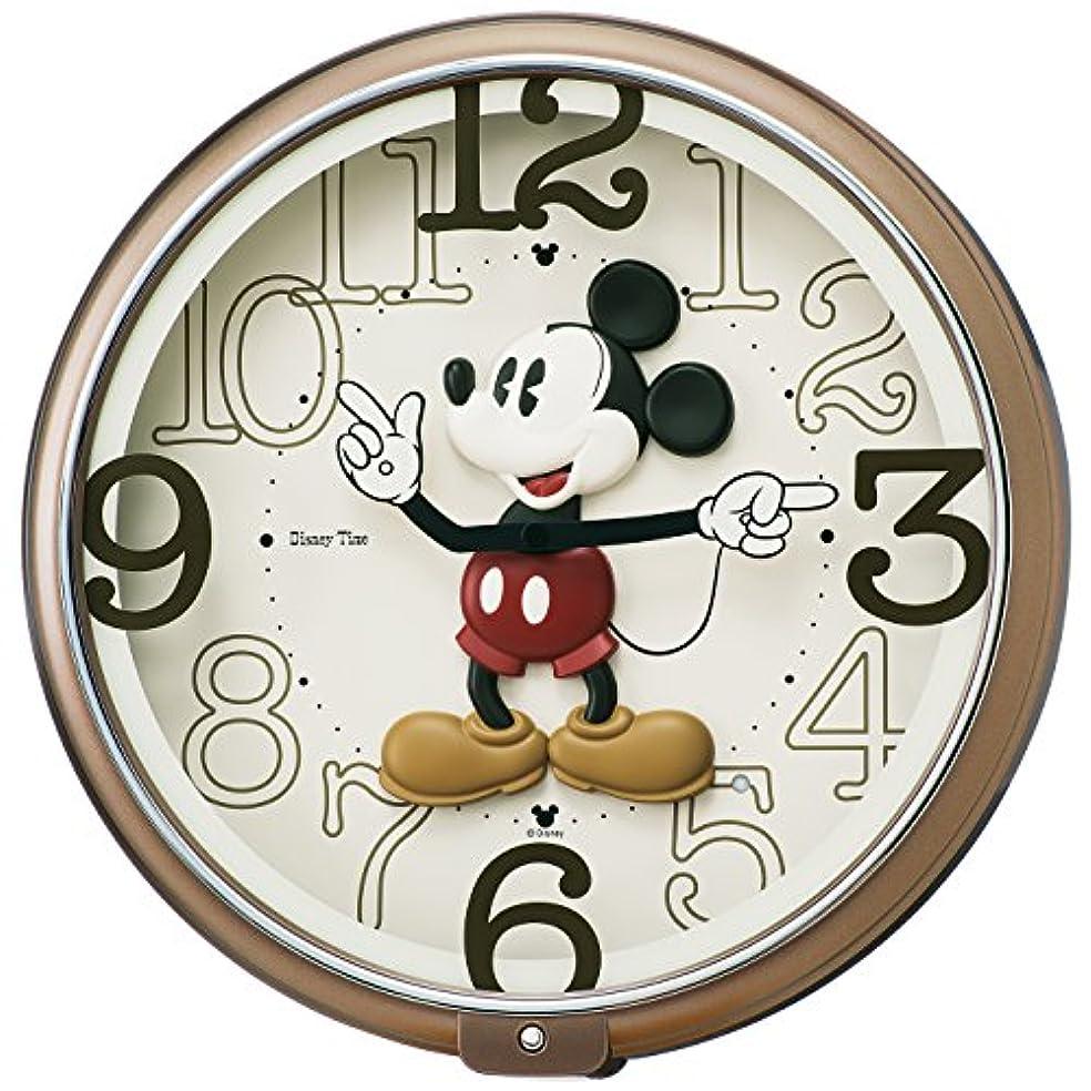 概要パイプ面セイコー クロック 掛け時計 ミッキーマウス アナログ 6曲 メロディ ミッキー&フレンズ Disney Time ディズニータイム 茶 メタリック FW576B SEIKO