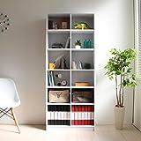【限定】本棚 収納棚 書棚 本収納 壁面収納 幅75cm ディスプレイラック 木製シェルフ 多目的収納ラック マルチラック ホワイト CPB011WH