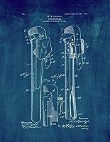 """パイプレンチ特許印刷アートポスターミッドナイトブルー 8.5"""" x 11"""" ブルー 10113-62-8"""