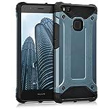 kwmobile ハイブリッド保護ケース トランスフォーマーデザイン > Huawei P9 Lite < 用 紺色黒色 - 携帯電話用頑丈なスタイリッシュな保護カバーケース