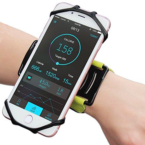 スポーツアームバンド VUP軽量 使いやすい 180回転式 ジョギング スポーツに最適アームバンド iPhone 7/7 Plus, iPhone 6S, Samsung Galaxy S8 / S8 Plus / S7 / S7 Edgeほとんどの4インから6.2インまでのスマートフォンに対応 (グリーン)