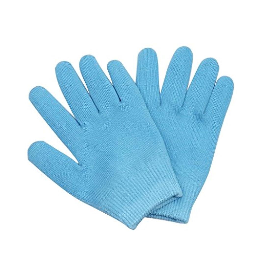 今イヤホンはちみつ保湿手袋 おやすみ手袋 就寝用 手袋 手湿疹 肌荒れ 乾燥防止 乾燥肌 手荒れ 保湿 スキンケア 全3色選べ - ブルー