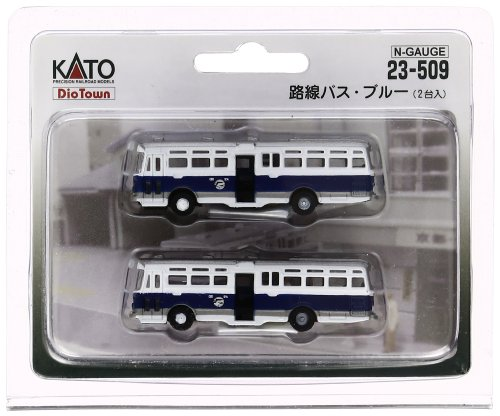 RoomClip商品情報 - KATO Nゲージ 路線バス・ブルー 2台入 23-509 鉄道模型用品