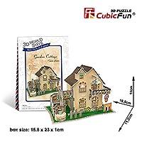 Cubicfun Cubic Fun 3d Puzzle Model 36pcs France Flavor Garden Cottage [並行輸入品]