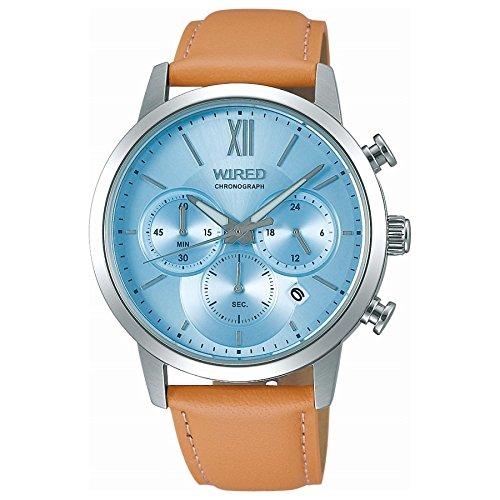 [SEIKO 아마존 세이코 신착 시계] [와이어드]WIRED 손목시계 WIRED 크로노그래프 페어 모델 크로노그래프 10기압 방수 AGAT415 맨즈-AGAT415 (2017-10-07)
