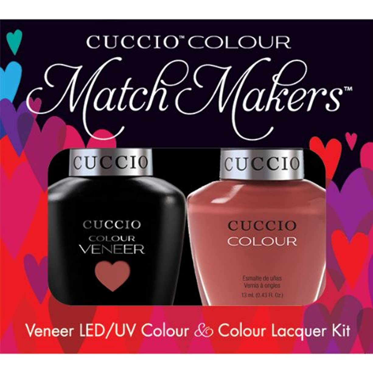 アフリカ人ファン内訳Cuccio MatchMakers Veneer & Lacquer - Boston Cream Pie - 0.43oz / 13ml Each