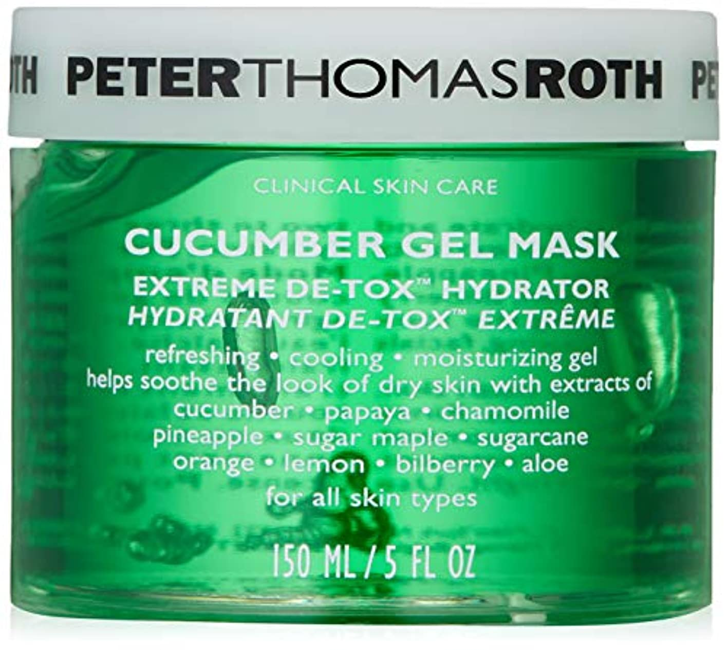 フレア舌投げ捨てるPeter Thomas Roth Cucumber Gel Mask 5.0 fl. oz.